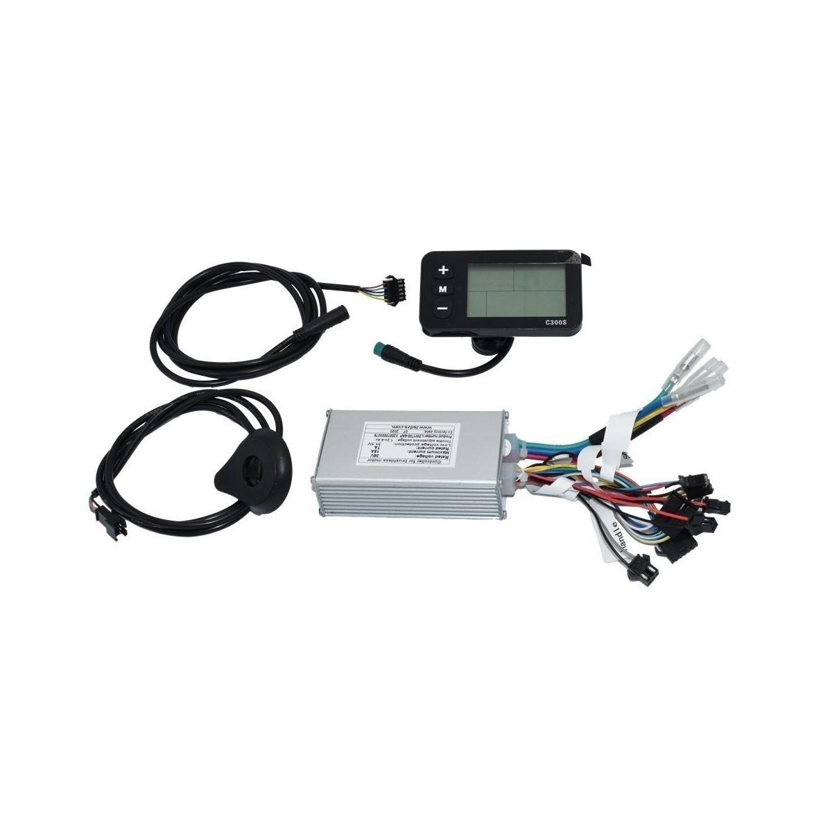 Conjunto Controladora ,cable alimentación , display ,sensor para bicicleta
