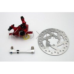 Complete red xTech caliper...